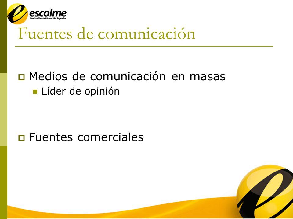 Fuentes de comunicación