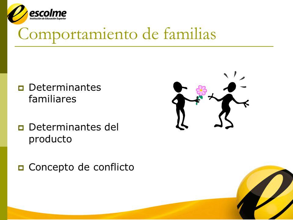 Comportamiento de familias