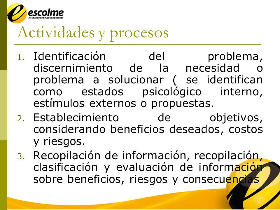 Actividades y procesos