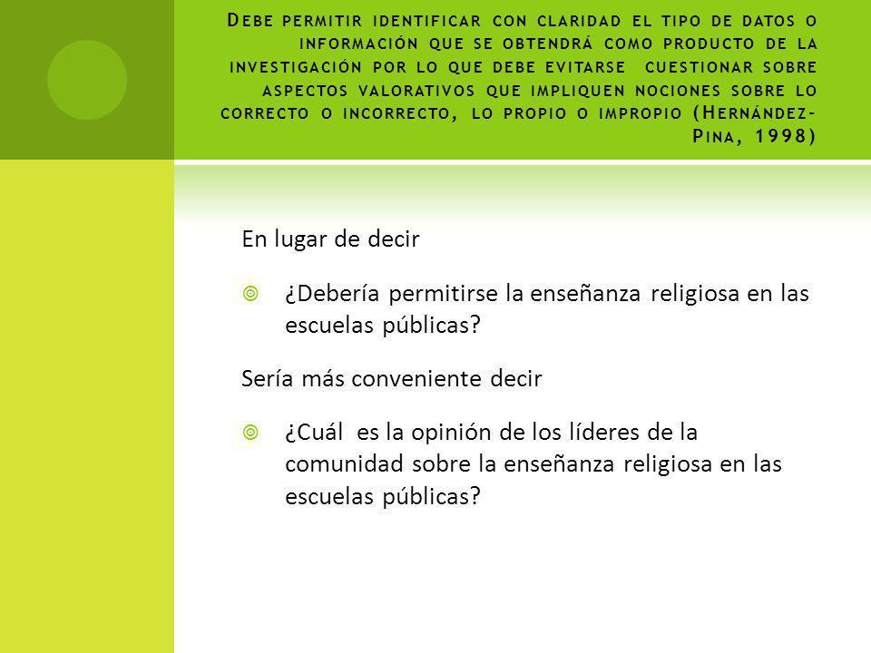 ¿Debería permitirse la enseñanza religiosa en las escuelas públicas
