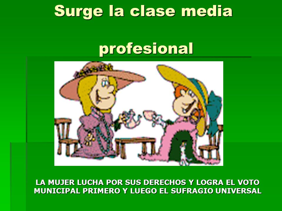 Surge la clase media profesional
