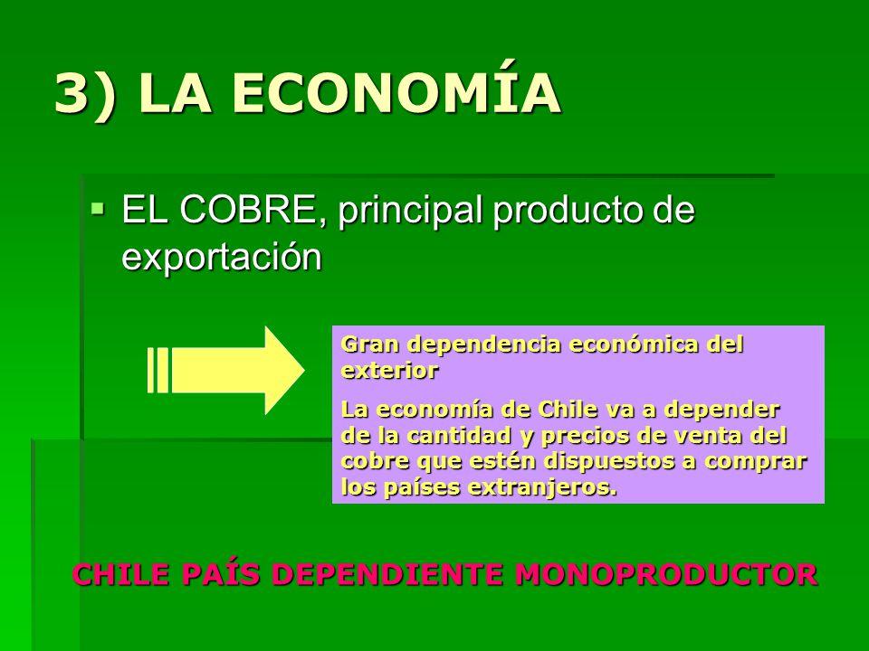 CHILE PAÍS DEPENDIENTE MONOPRODUCTOR