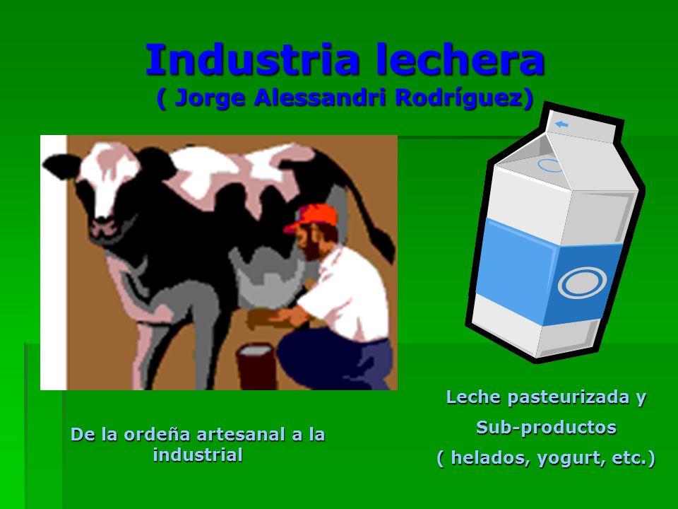 Industria lechera ( Jorge Alessandri Rodríguez)