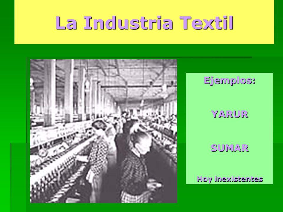 La Industria Textil Ejemplos: YARUR SUMAR Hoy inexistentes