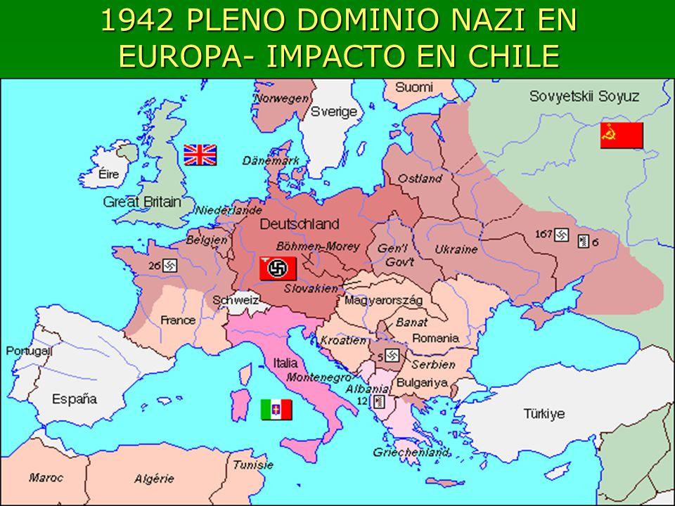 1942 PLENO DOMINIO NAZI EN EUROPA- IMPACTO EN CHILE