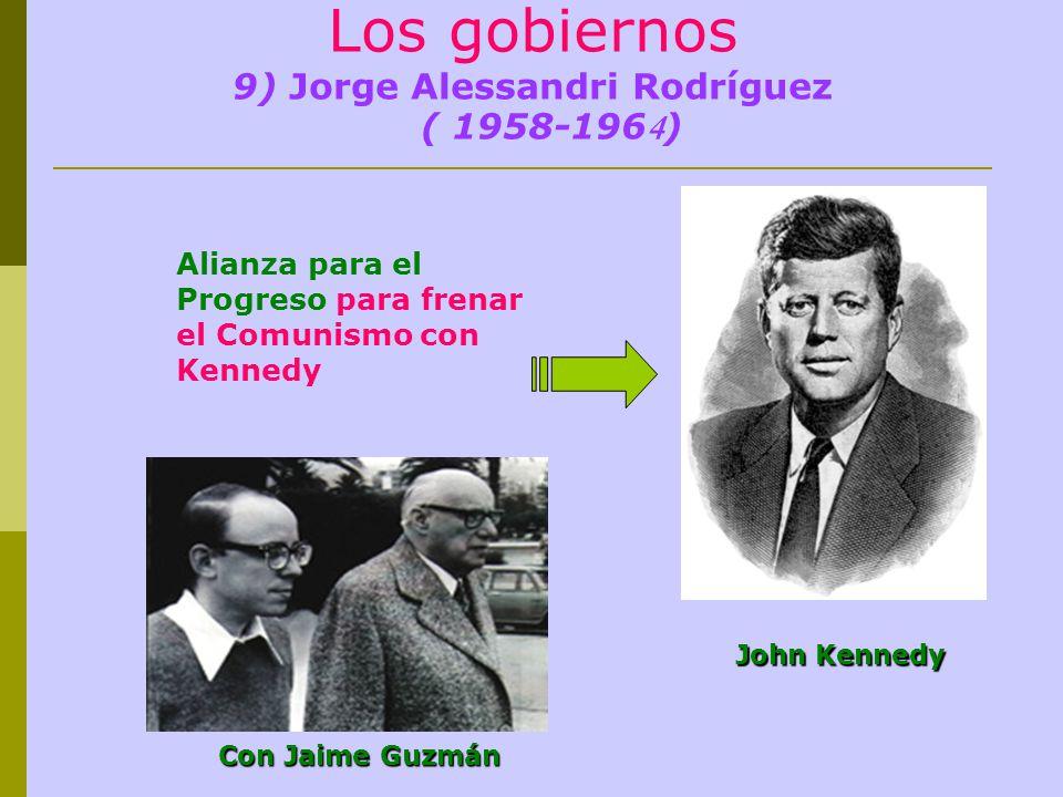 Los gobiernos 9) Jorge Alessandri Rodríguez ( 1958-1964)