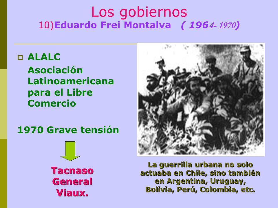 Los gobiernos 10)Eduardo Frei Montalva ( 1964- 1970)