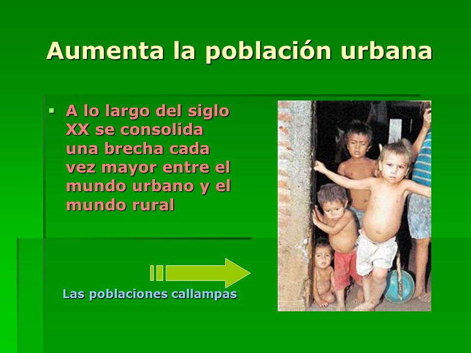 Aumenta la población urbana