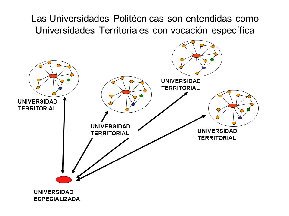 Las Universidades Politécnicas son entendidas como Universidades Territoriales con vocación específica