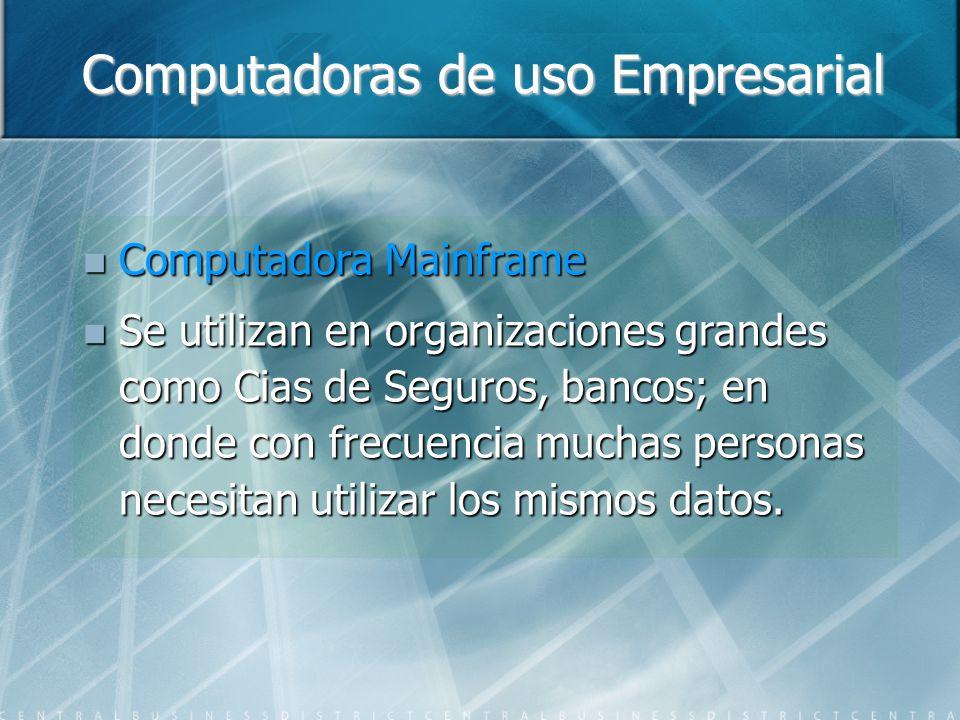 Computadoras de uso Empresarial