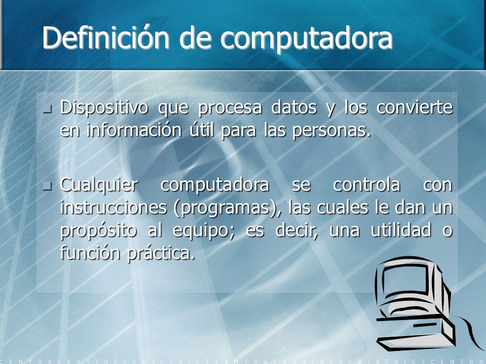 Definición de computadora