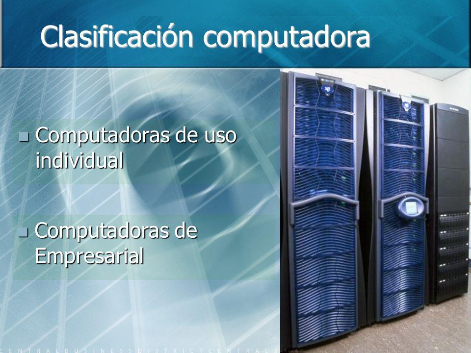 Clasificación computadora