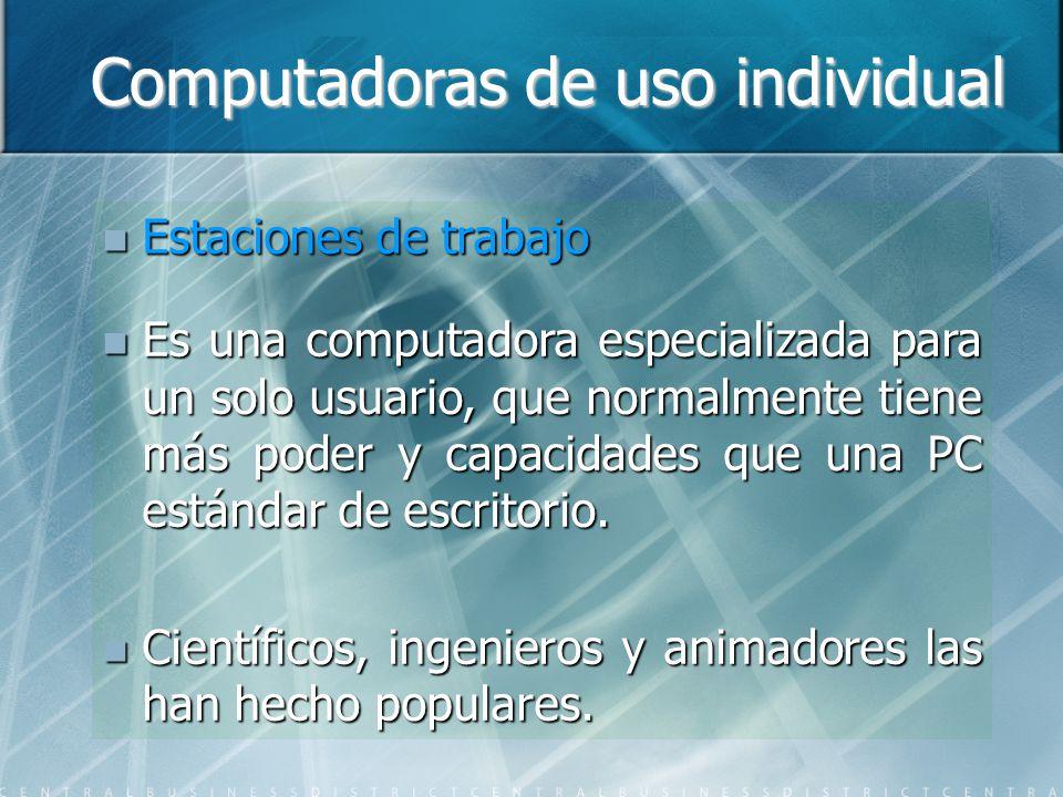 Computadoras de uso individual