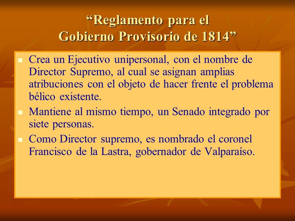 Reglamento para el Gobierno Provisorio de 1814