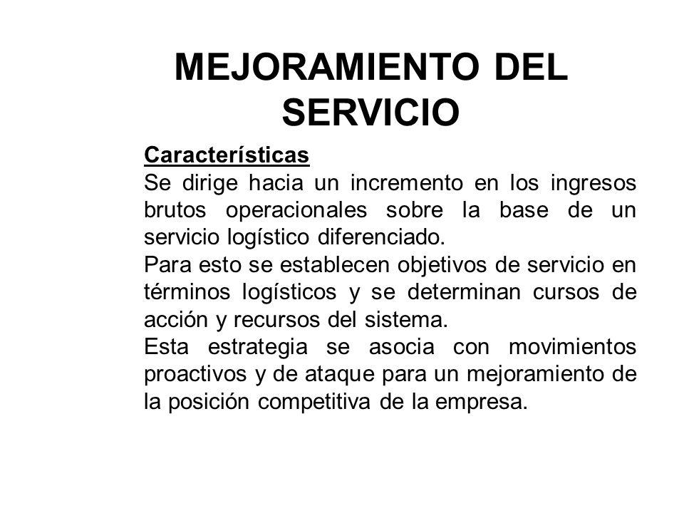 MEJORAMIENTO DEL SERVICIO