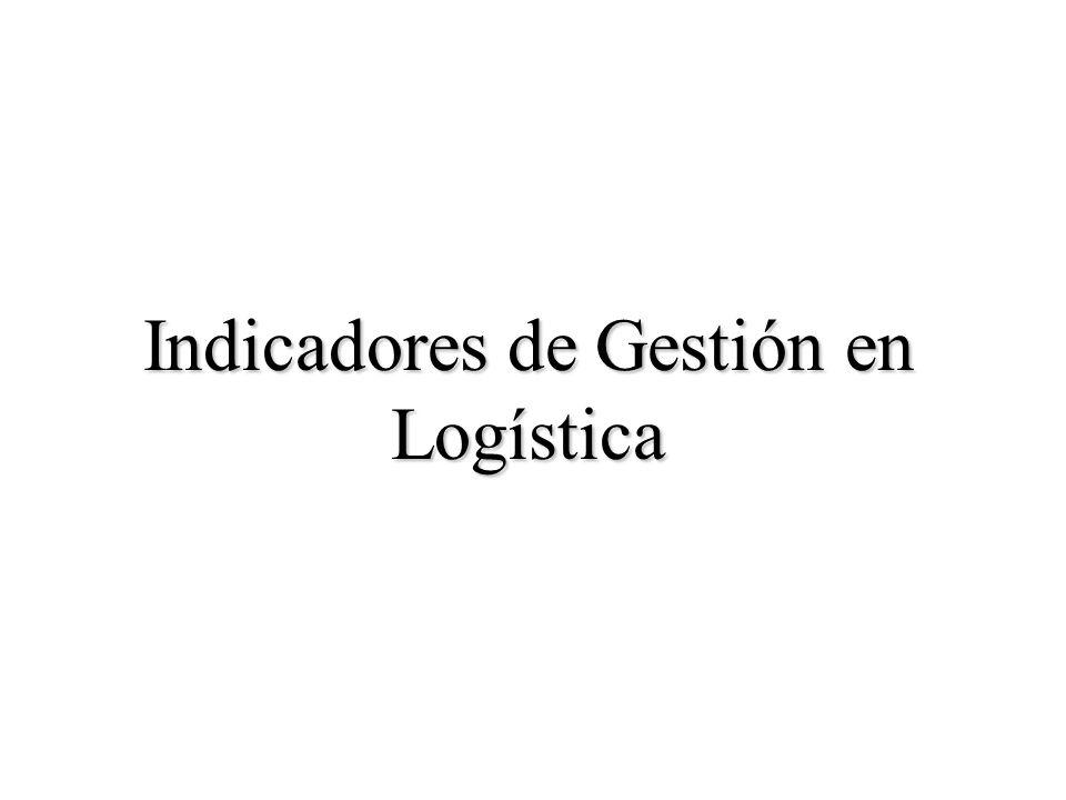 Indicadores de Gestión en Logística
