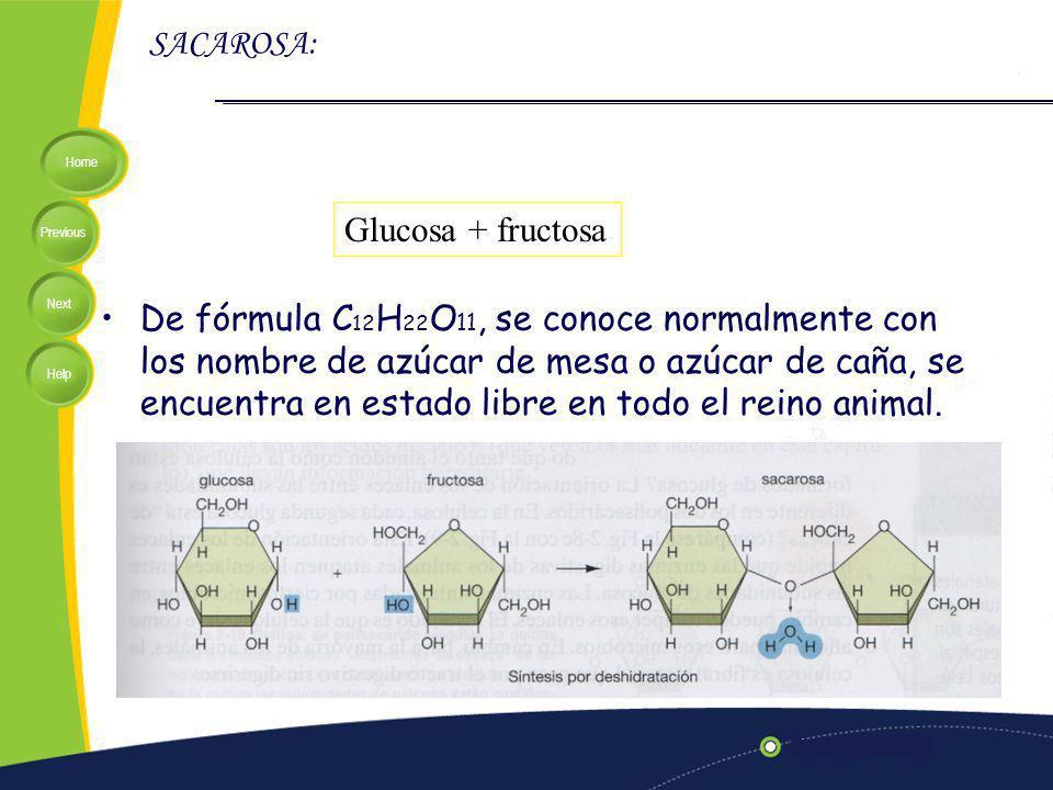 SACAROSA: Glucosa + fructosa.