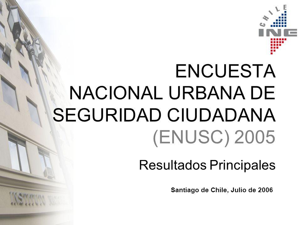 ENCUESTA NACIONAL URBANA DE SEGURIDAD CIUDADANA (ENUSC) 2005 Resultados Principales