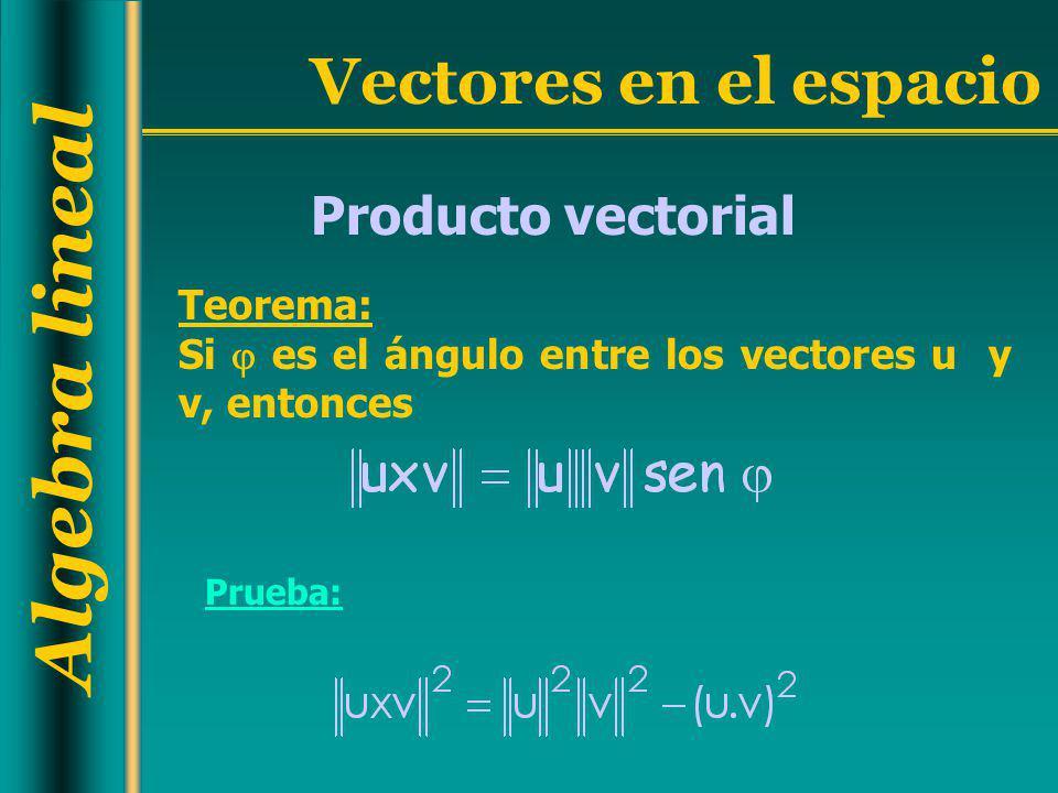 Producto vectorial Teorema: