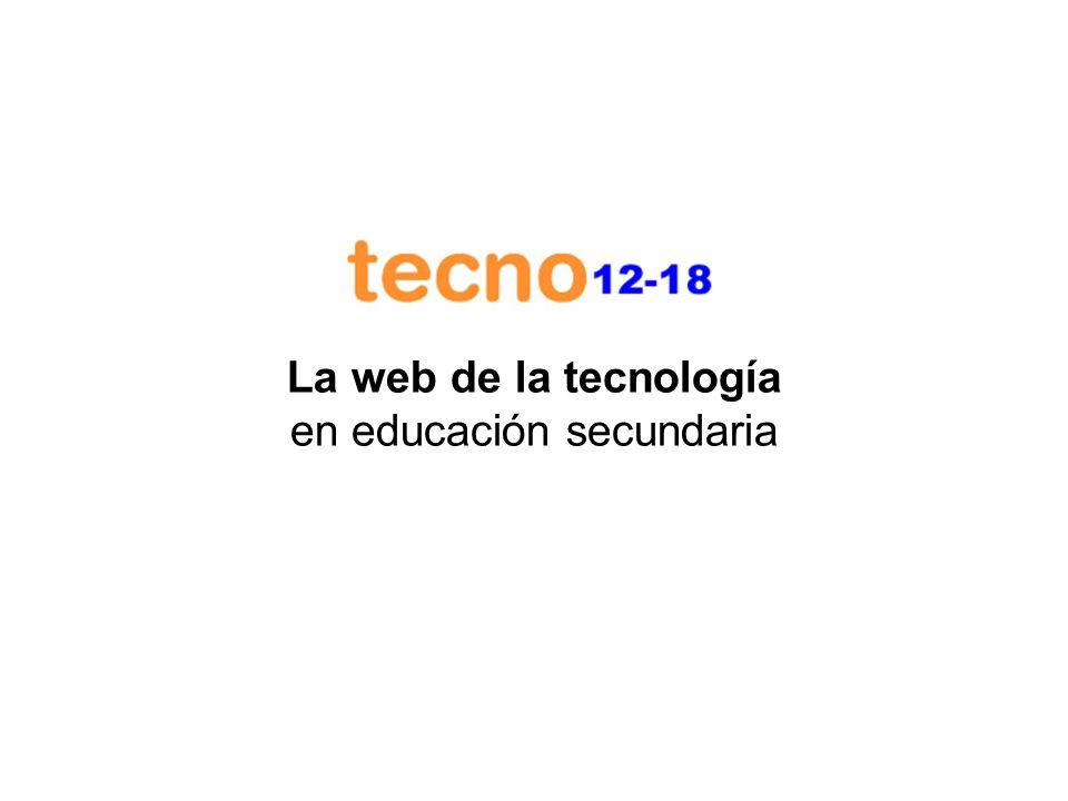 La web de la tecnología en educación secundaria