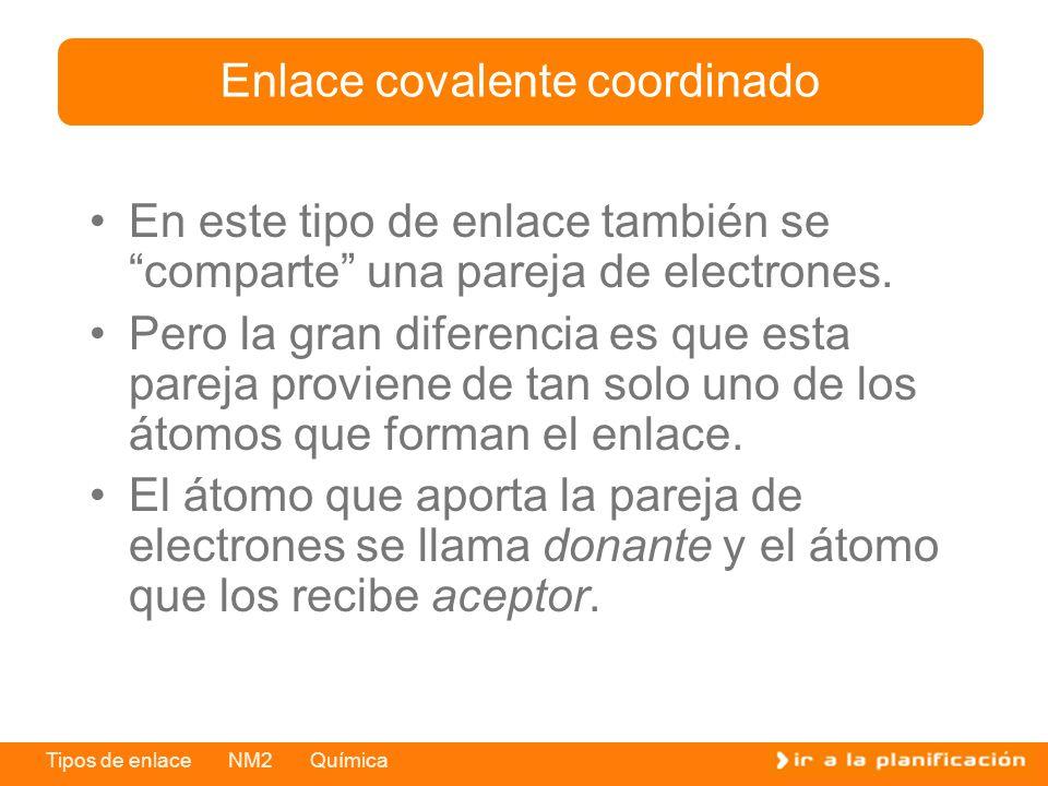 Enlace covalente coordinado