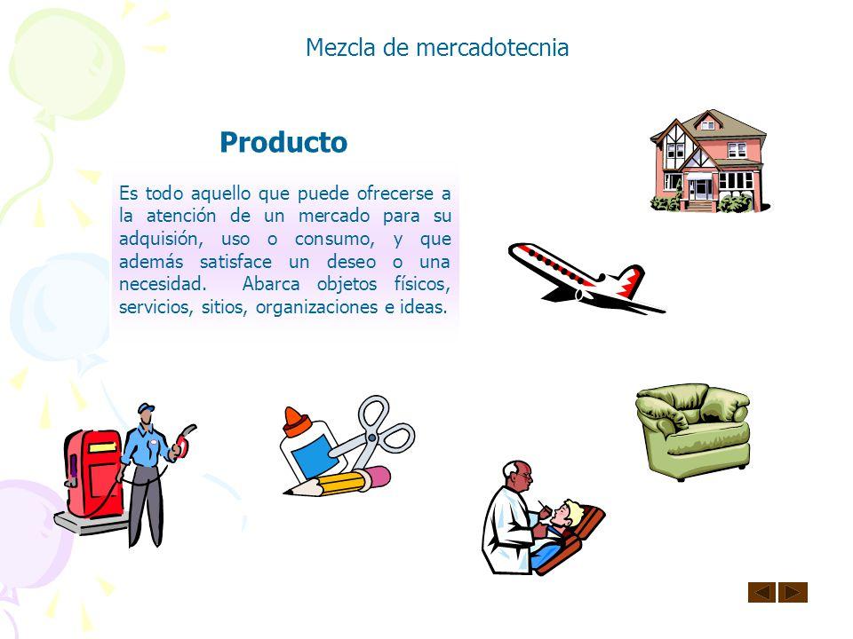 Producto Mezcla de mercadotecnia
