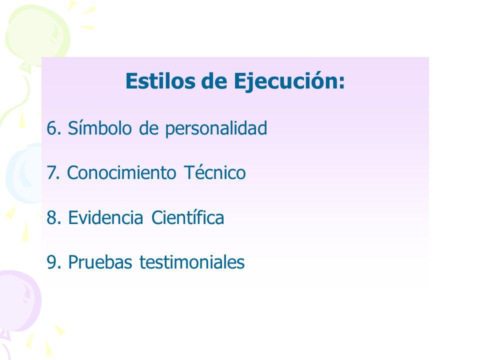 Estilos de Ejecución: 6. Símbolo de personalidad