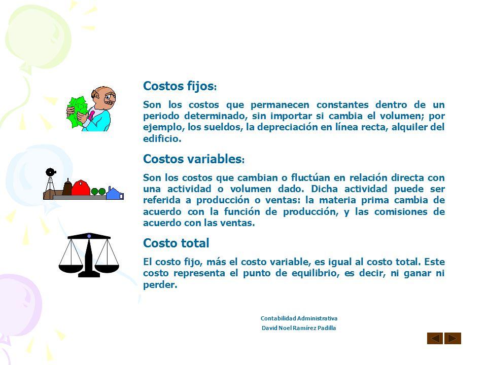 Contabilidad Administrativa David Noel Ramírez Padilla