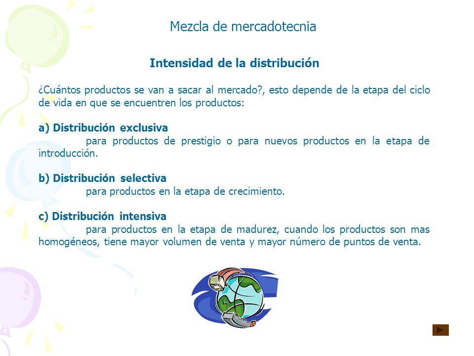 Intensidad de la distribución