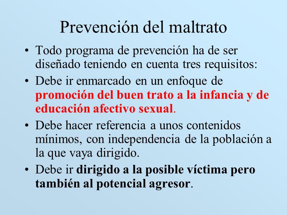 Prevención del maltrato
