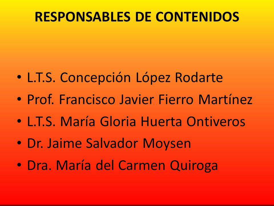 RESPONSABLES DE CONTENIDOS