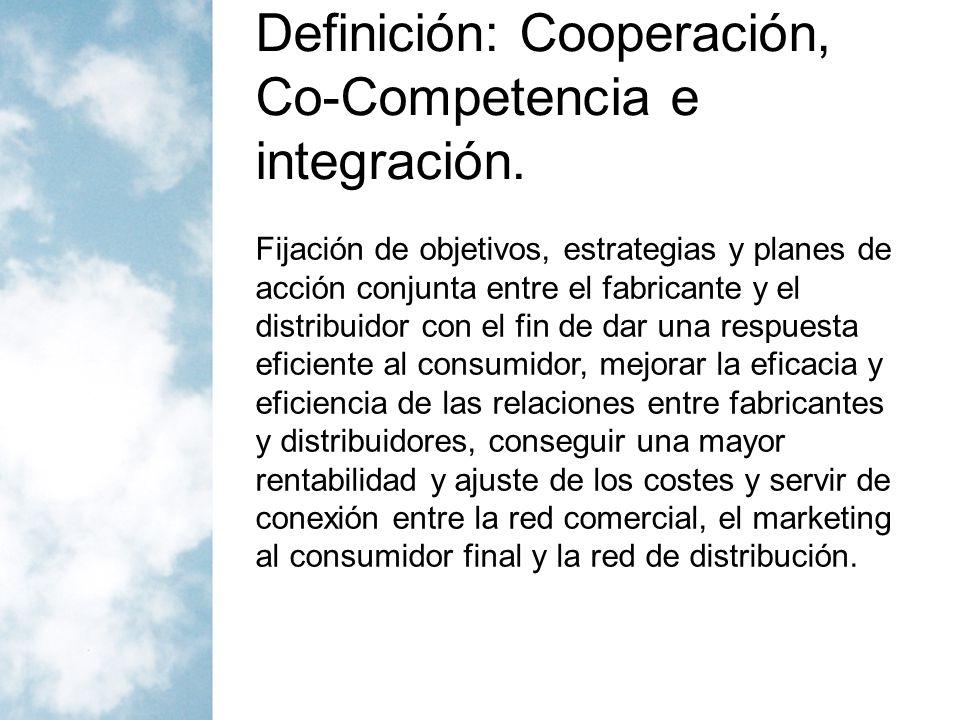 Definición: Cooperación, Co-Competencia e integración.