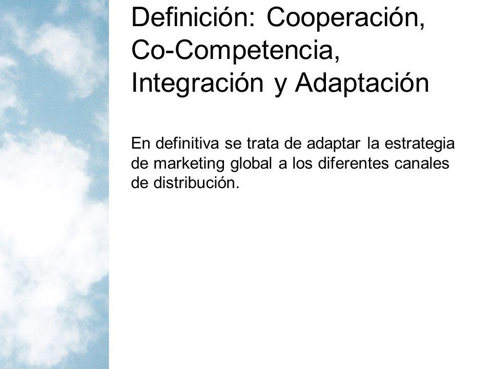 Definición: Cooperación, Co-Competencia, Integración y Adaptación