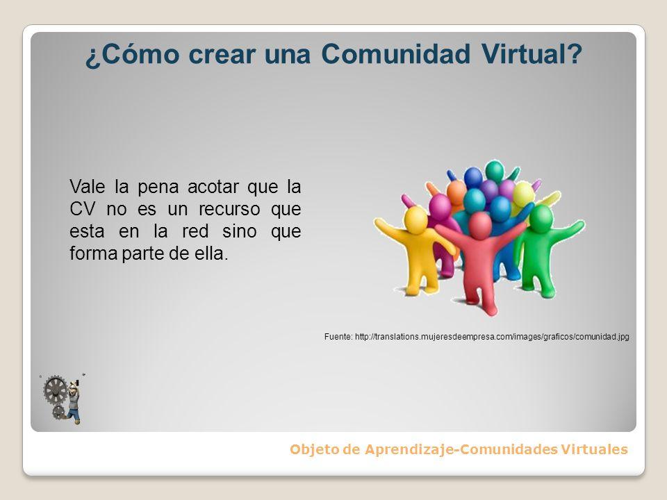 ¿Cómo crear una Comunidad Virtual