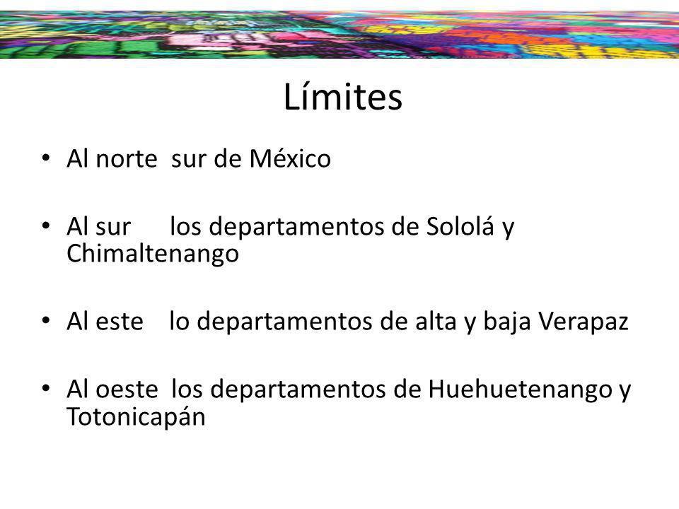 Límites Al norte sur de México