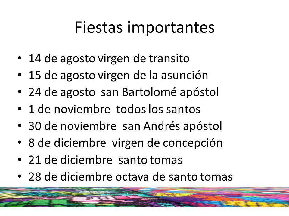 Fiestas importantes 14 de agosto virgen de transito