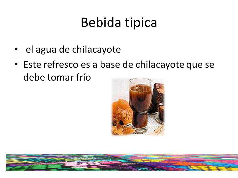 Bebida tipica el agua de chilacayote
