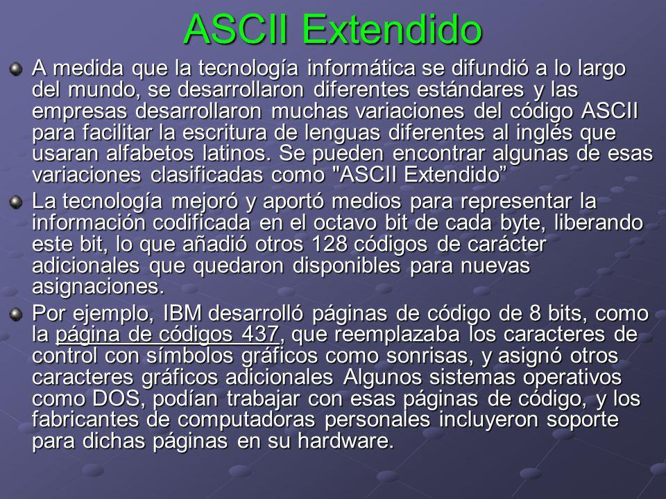 ASCII Extendido