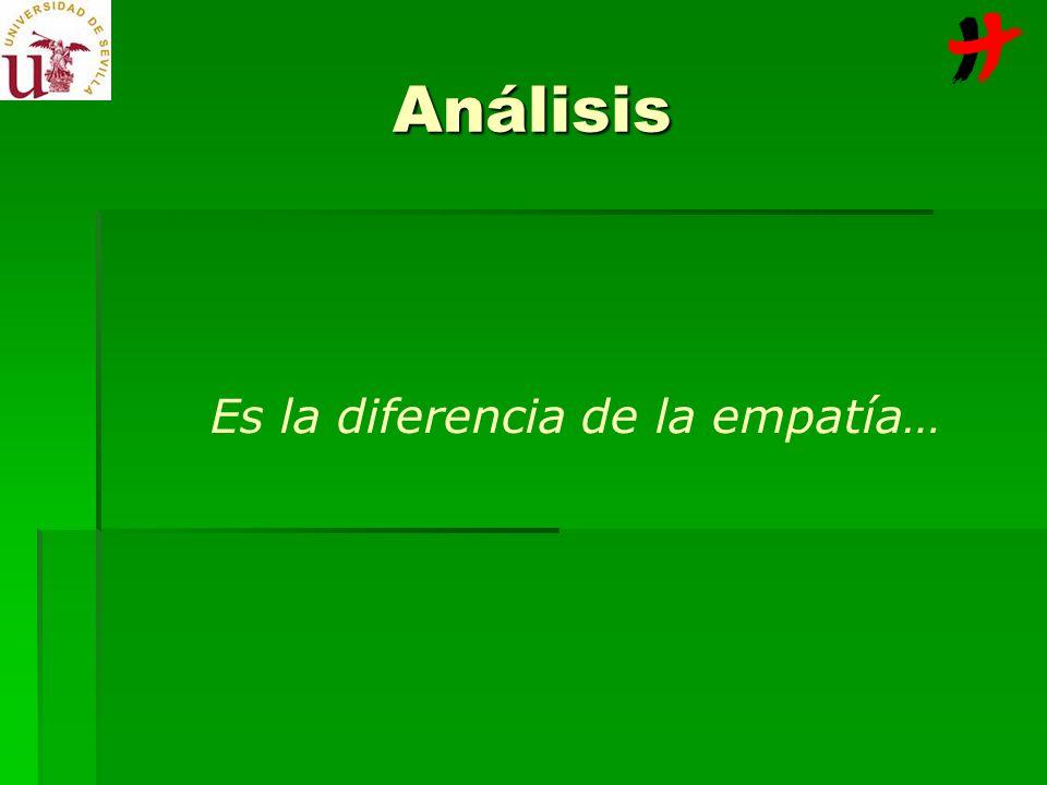 Análisis Es la diferencia de la empatía…