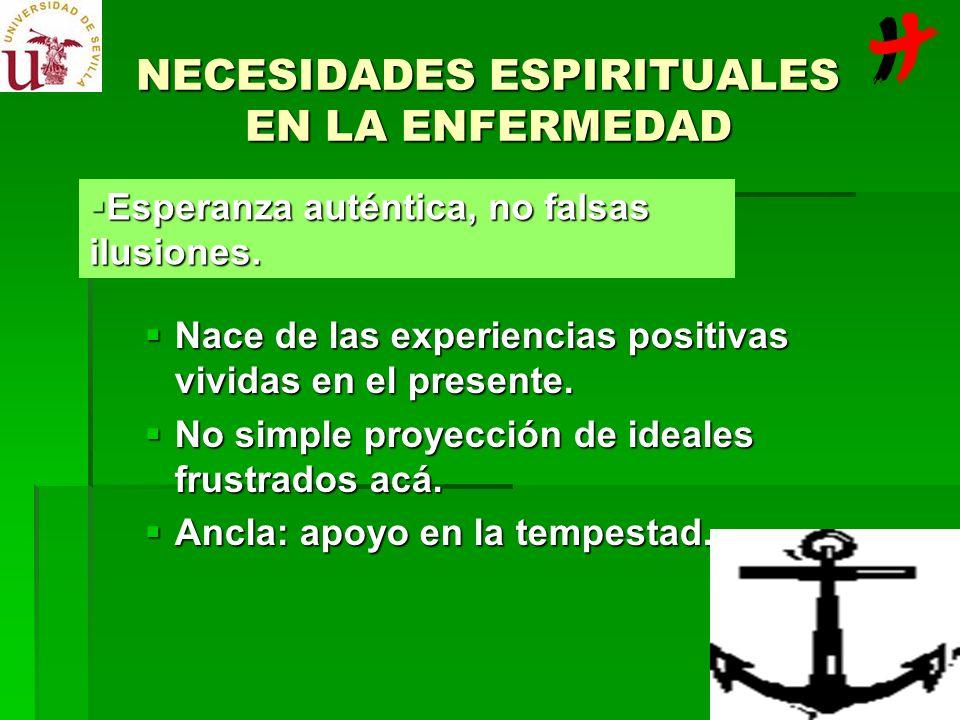 NECESIDADES ESPIRITUALES EN LA ENFERMEDAD
