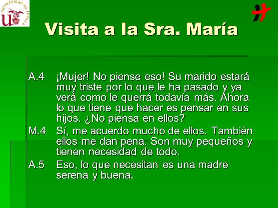 Visita a la Sra. María