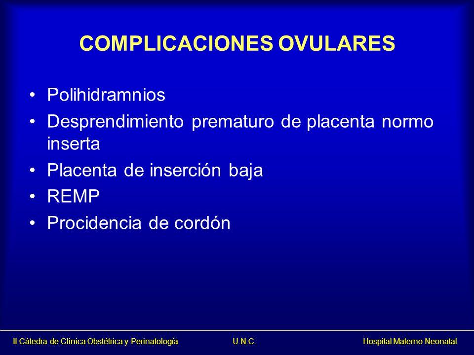 COMPLICACIONES OVULARES