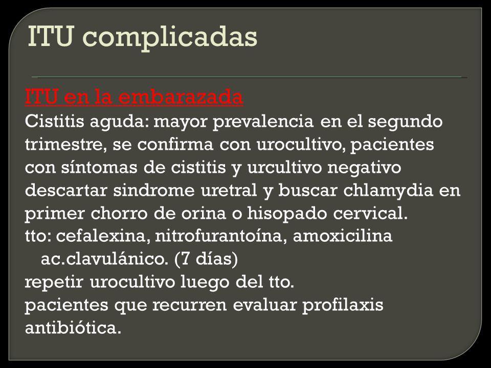 ITU complicadas ITU en la embarazada