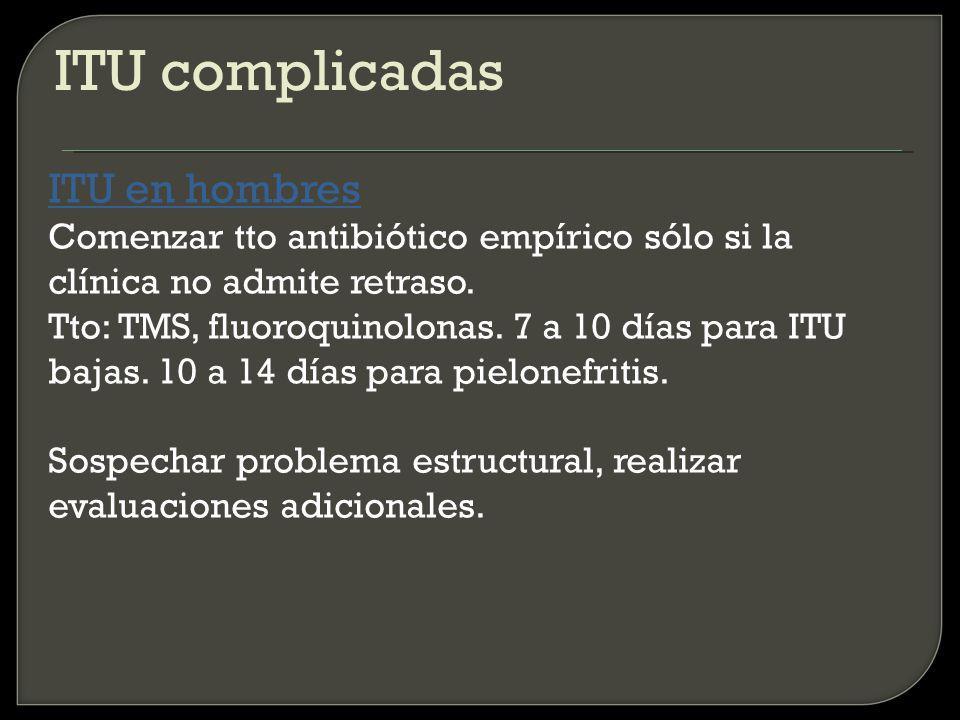 ITU complicadas ITU en hombres