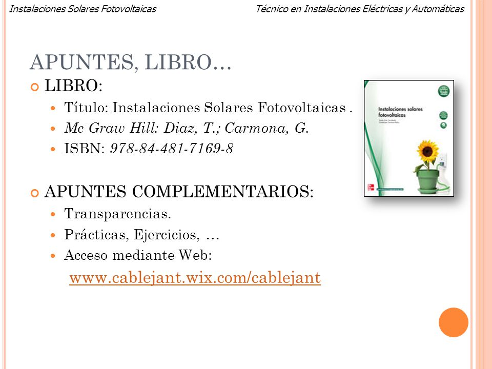 APUNTES, LIBRO… LIBRO: APUNTES COMPLEMENTARIOS:
