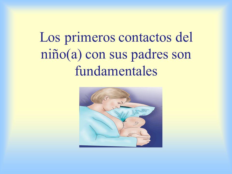 Los primeros contactos del niño(a) con sus padres son fundamentales