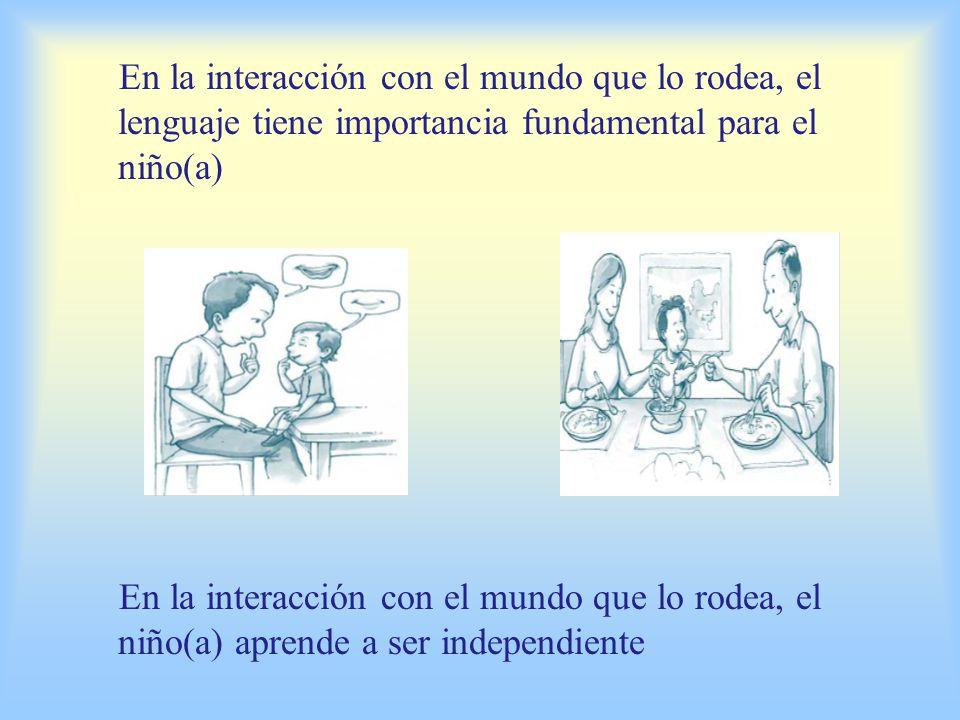 En la interacción con el mundo que lo rodea, el lenguaje tiene importancia fundamental para el niño(a)