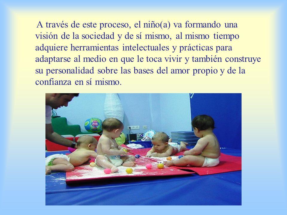 A través de este proceso, el niño(a) va formando una visión de la sociedad y de sí mismo, al mismo tiempo adquiere herramientas intelectuales y prácticas para adaptarse al medio en que le toca vivir y también construye su personalidad sobre las bases del amor propio y de la confianza en sí mismo.