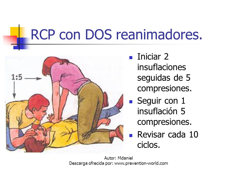 RCP con DOS reanimadores.