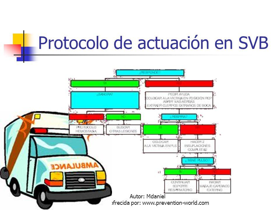 Protocolo de actuación en SVB